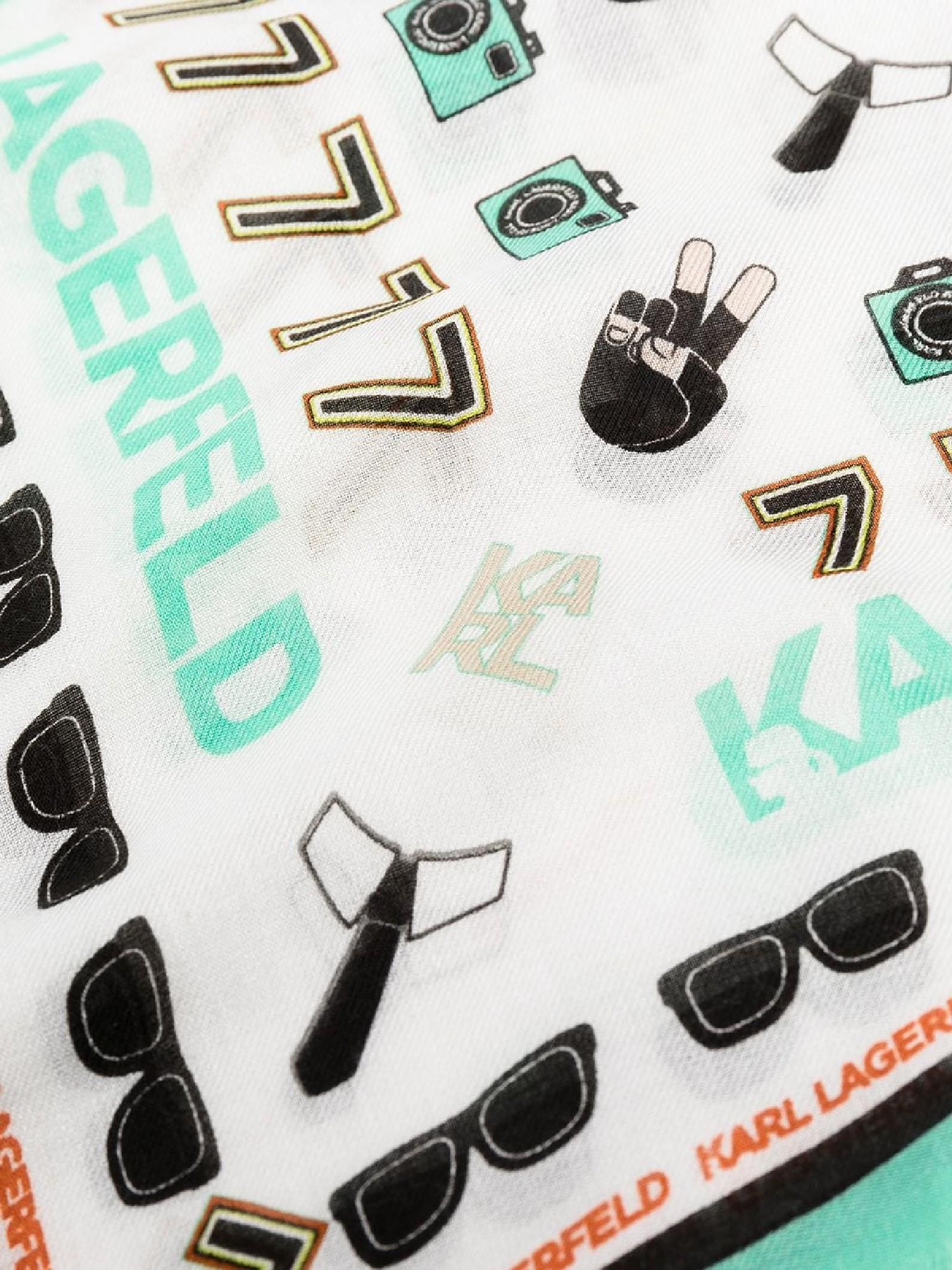 Sciarpa K / Favorite con stampa del logo KARL LAGERFELD | Sciarpa | 211W3309900/A900