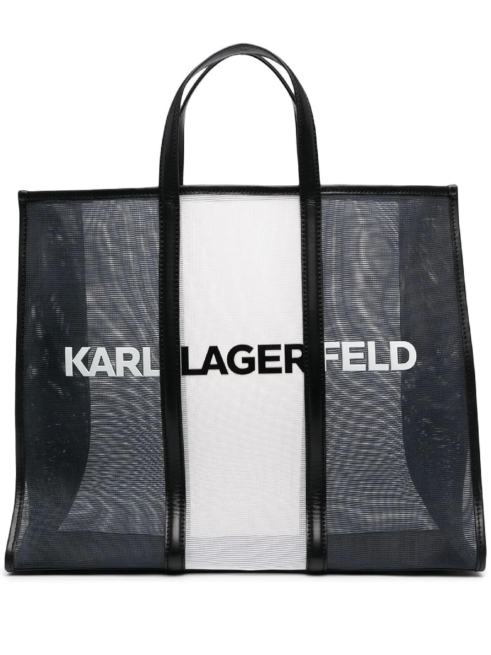 K / Borsa tote grande stampata KARL LAGERFELD | Borsa | 211W3909998/A998