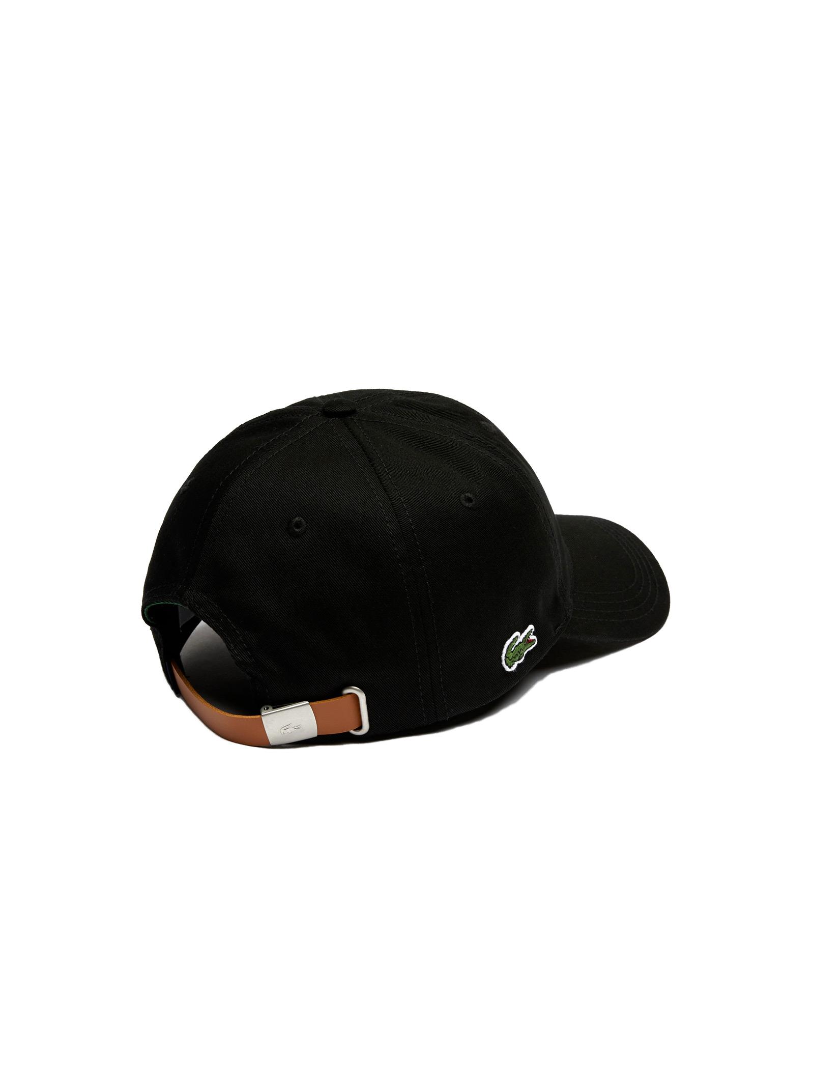 Cappelllo in cotone nero LACOSTE | Cappello | RK4709031