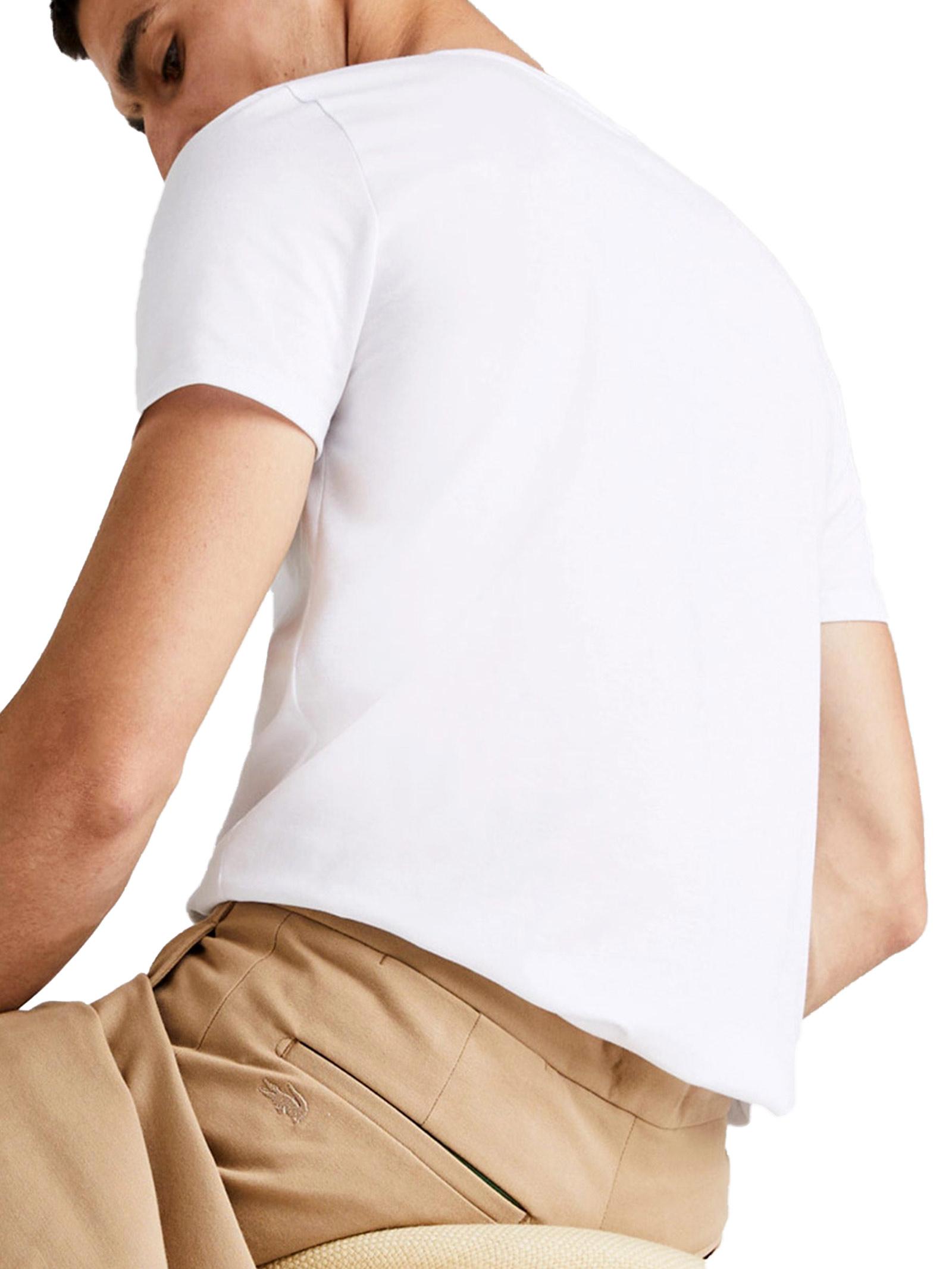 T-shirt a girocollo bianca LACOSTE | T-shirt | TH6709001