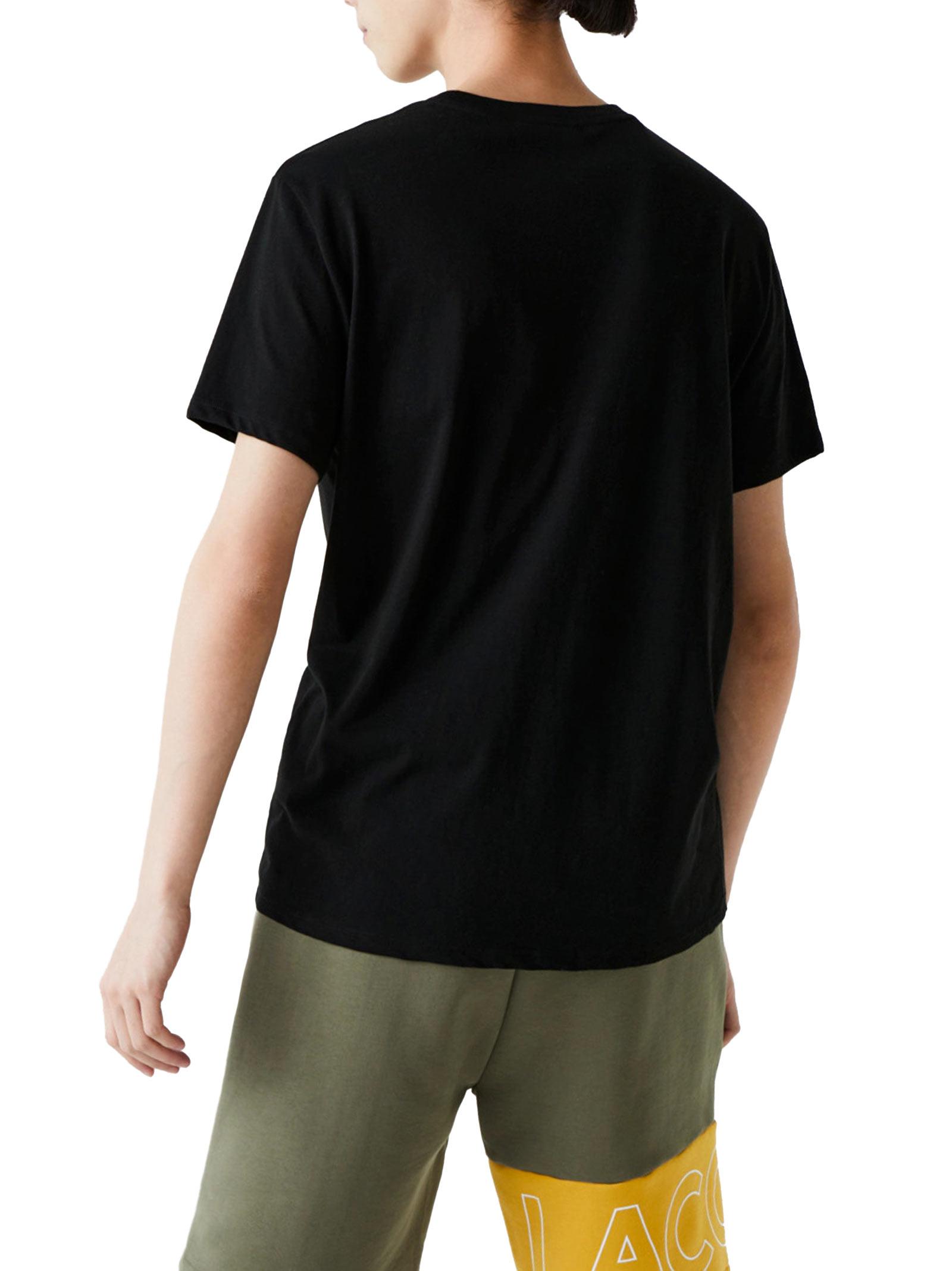 T-shirt a girocollo nero LACOSTE | T-shirt | TH6709031