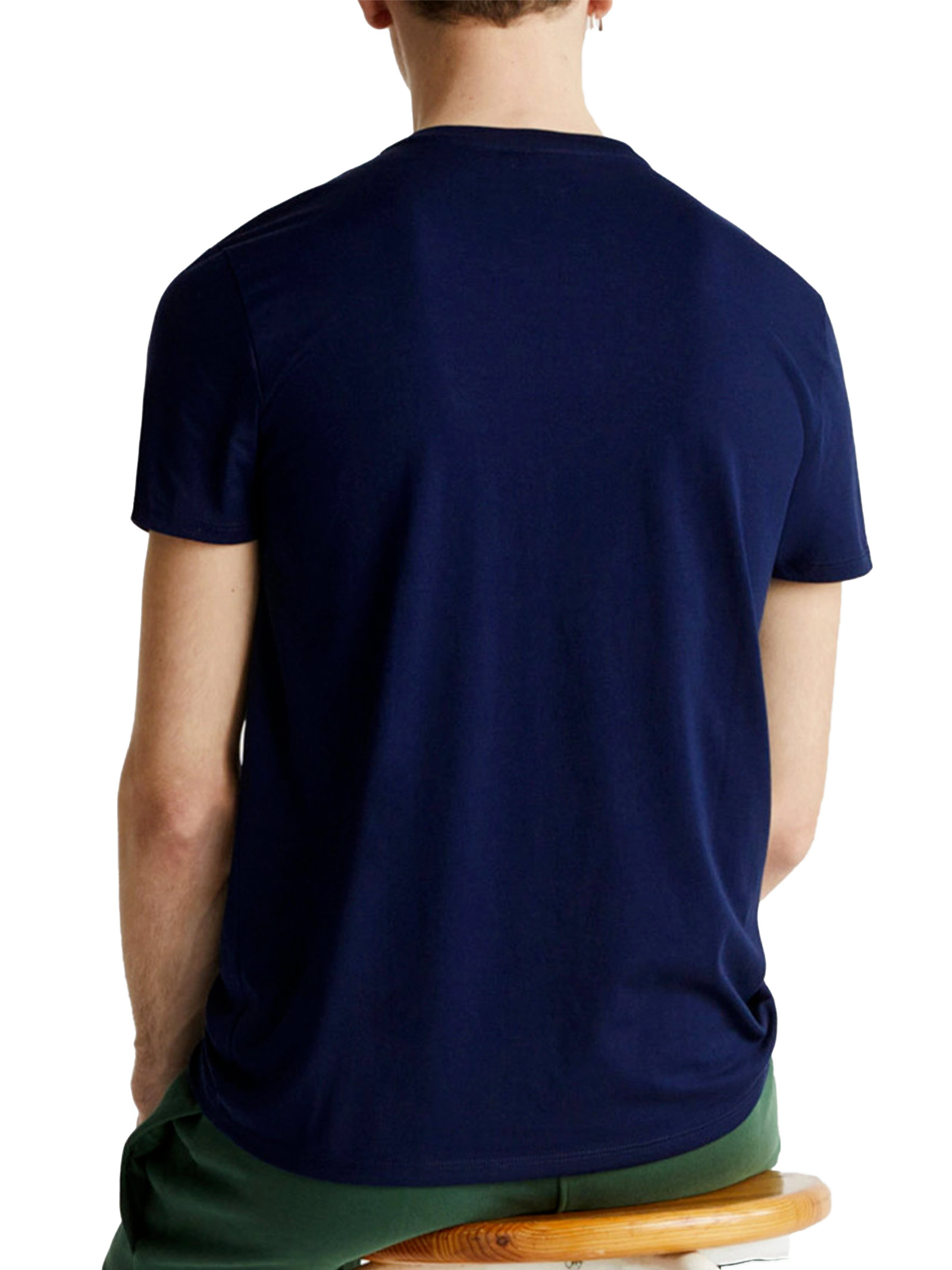 T-shirt a girocollo blu navy LACOSTE | T-shirt | TH6709166