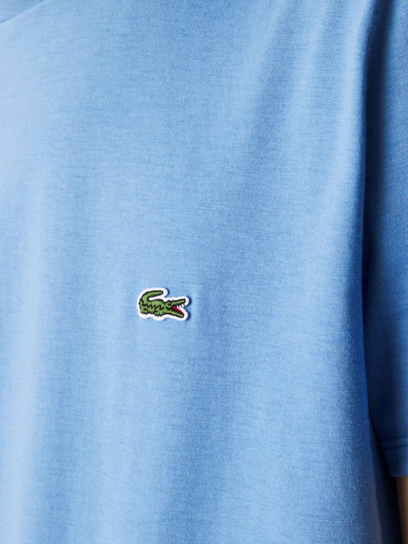 T-shirt a girocollo azzurra LACOSTE   T-shirt   TH6709776