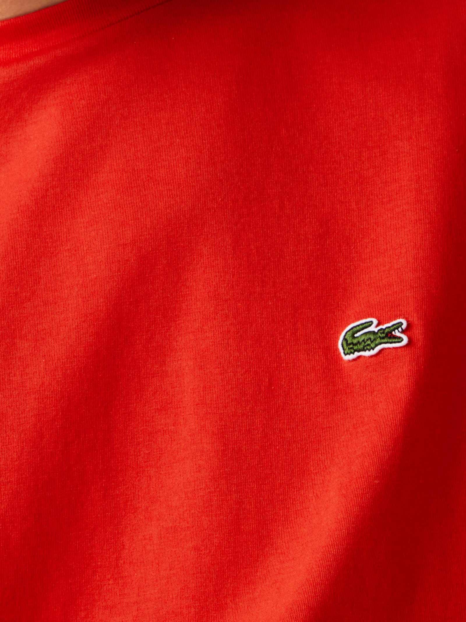 T-shirt a girocollo rossa LACOSTE   T-shirt   TH6709F8M