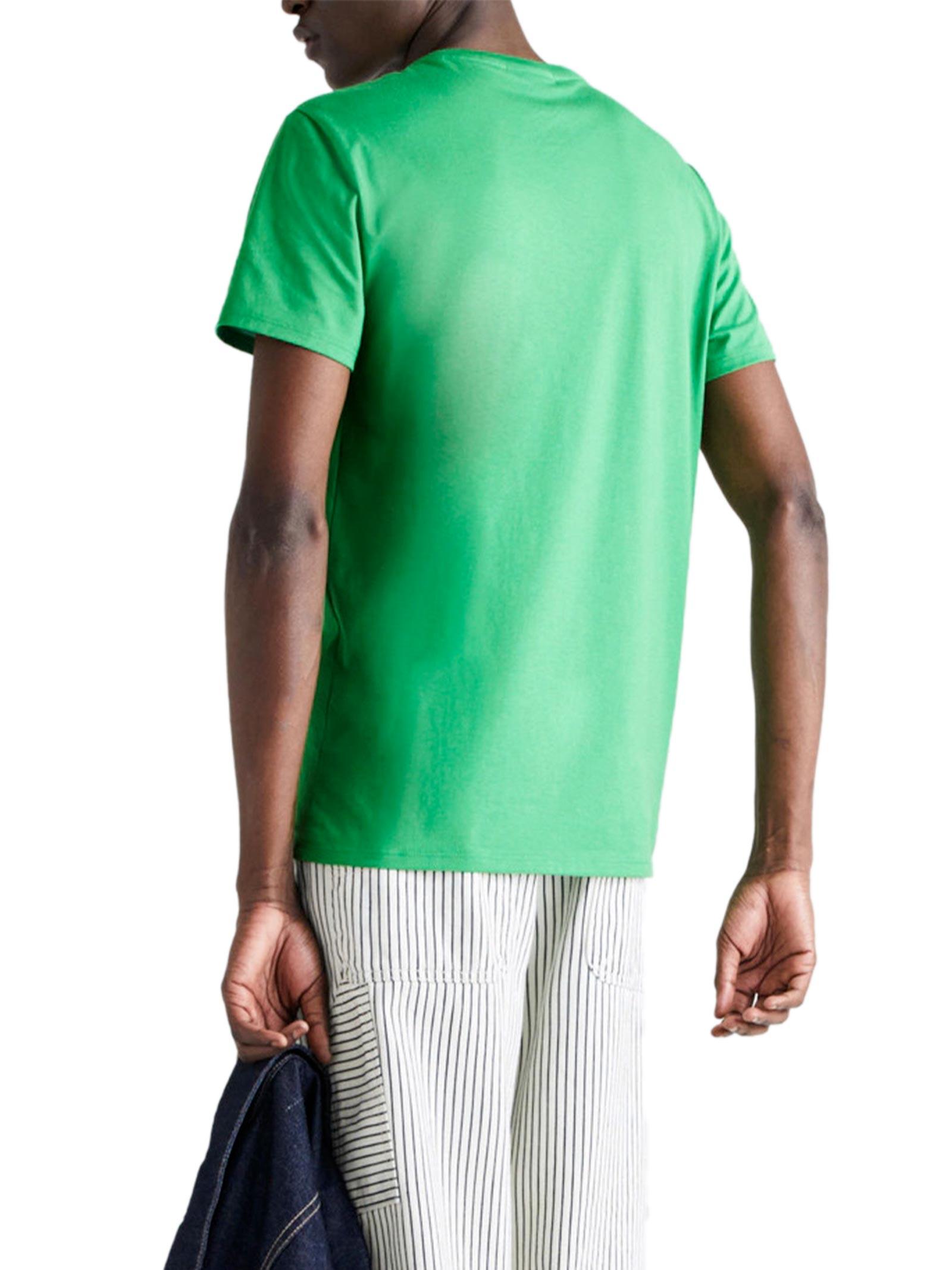 T-shirt a girocollo verde LACOSTE   T-shirt   TH6709QMN