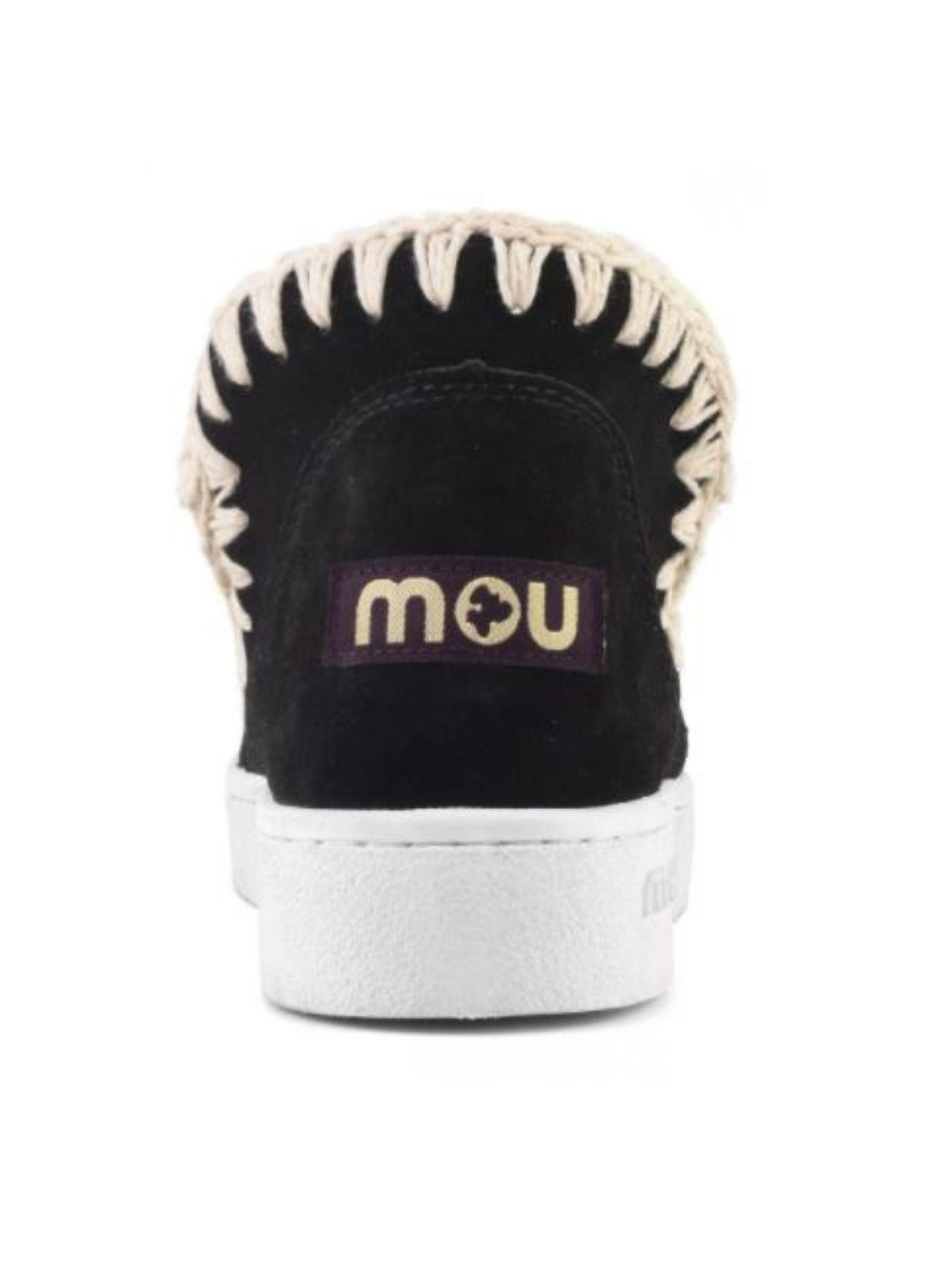 Eskimo sneaker perforated suede MOU | Scarpe | MU.SW211000O/BKWHB/W
