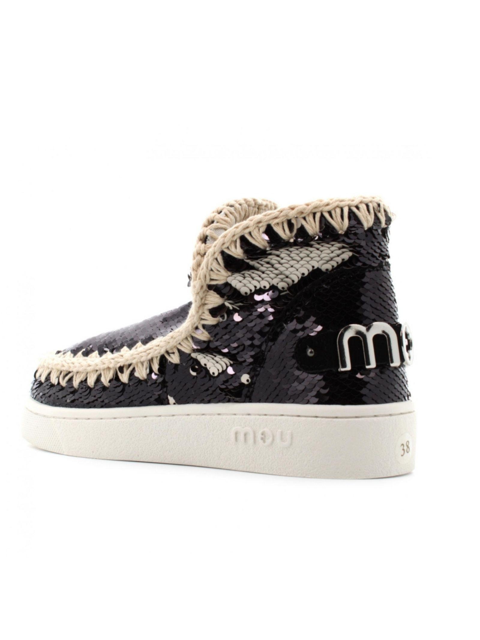 Eskimo sneaker all sequins MOU | Scarpe | MU.SW211001G/BLAWHB/W