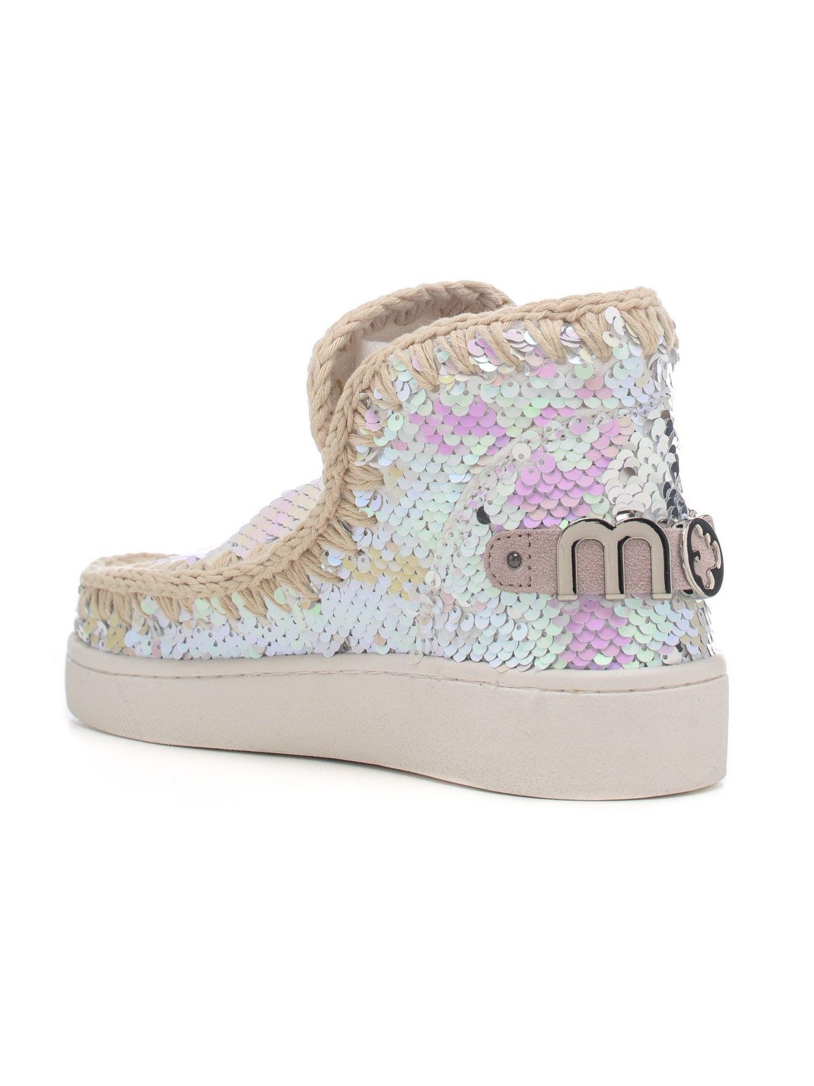 Eskimo sneaker all sequins MOU   Scarpe   MU.SW211001G/IRIPINPINK