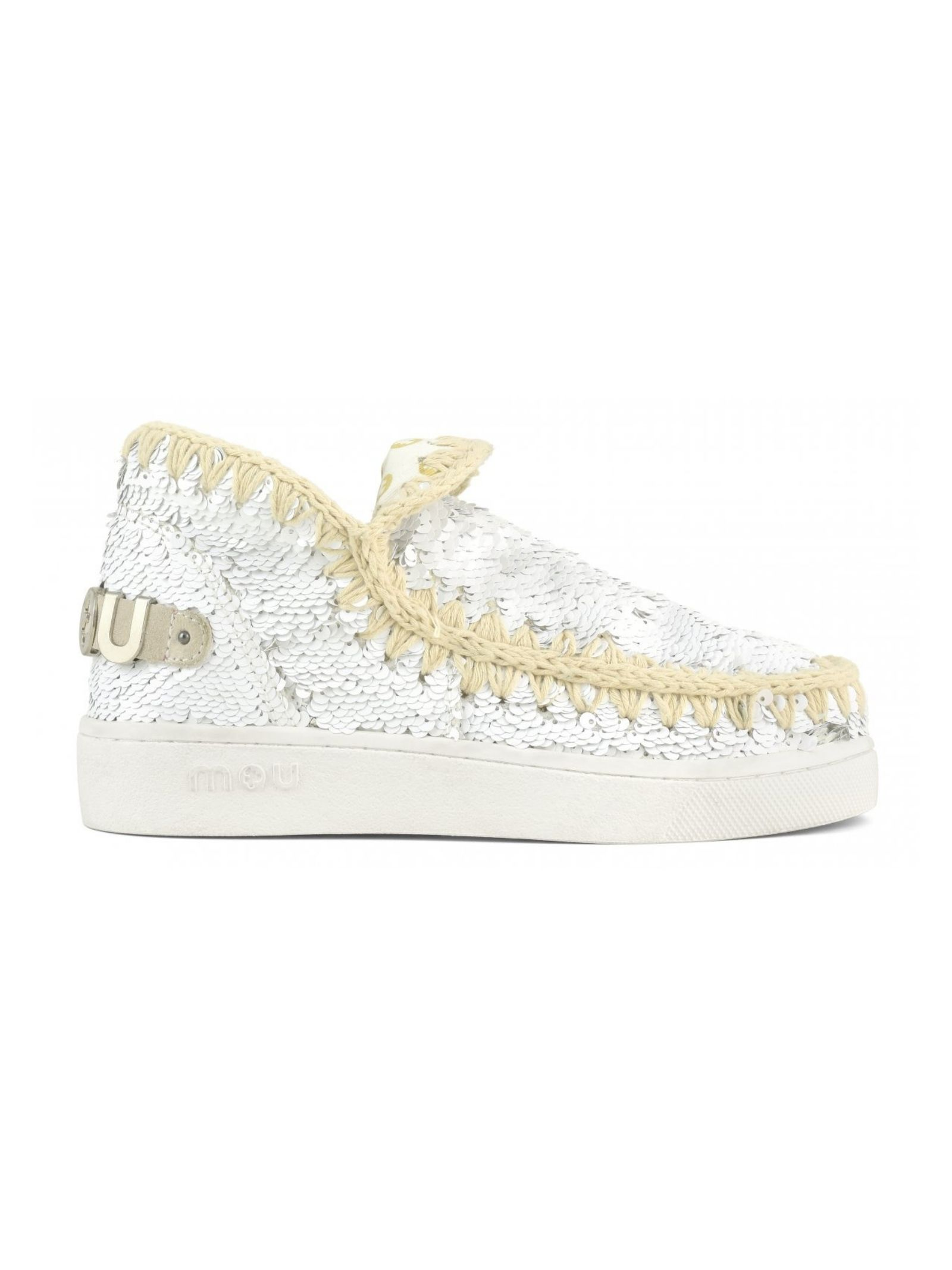 Eskimo sneaker all sequins MOU | Scarpe | MU.SW211001G/WHISIW/S