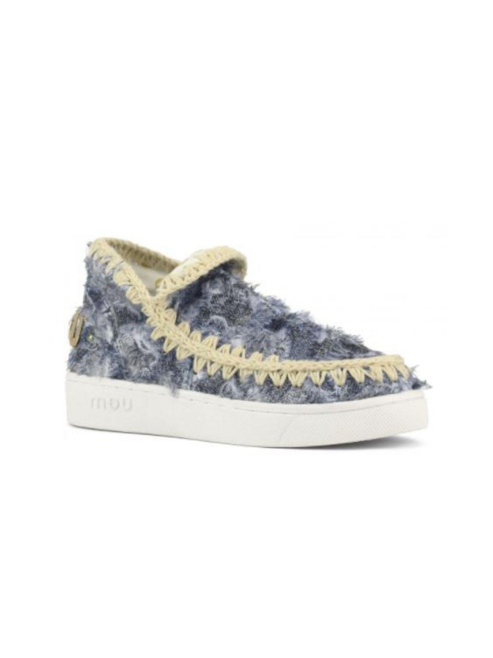 Denim patchwork sneaker MOU   Scarpe   MU.SW211012S/DPTCHDENIM PATCH