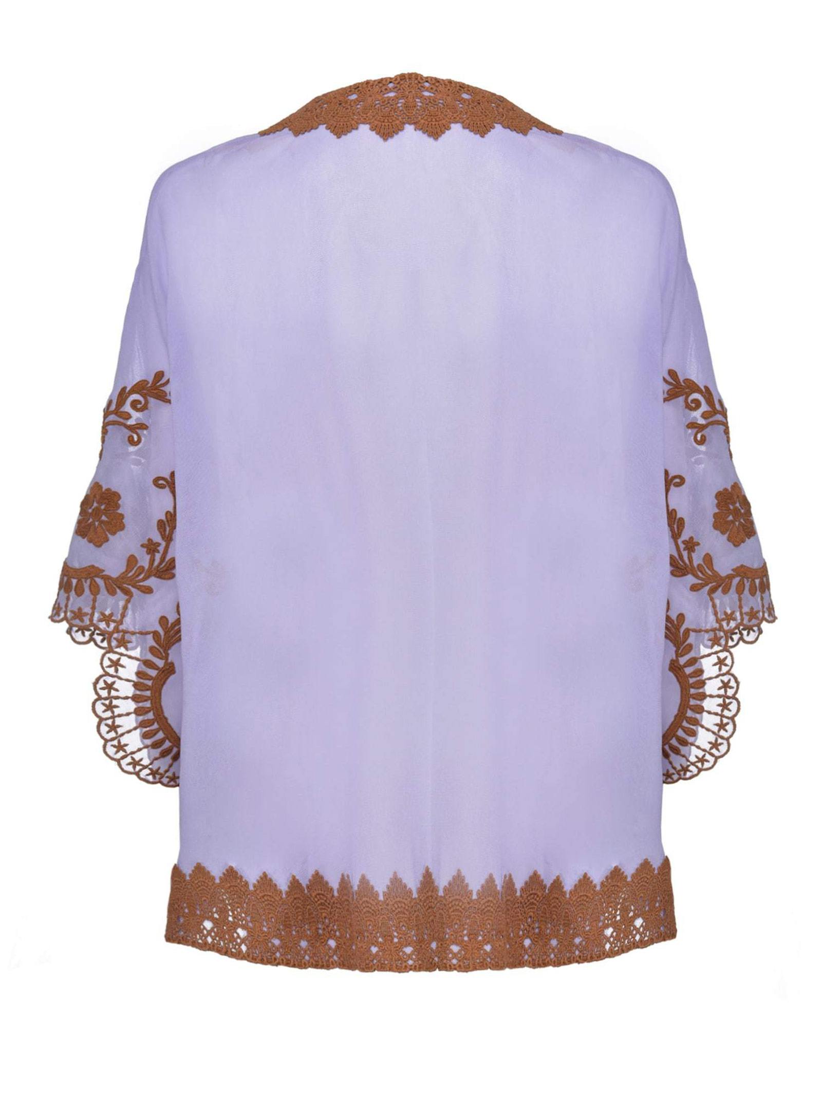 CAFTANO IN GEORGETTE RICAMATA PINKO | Poncho | 1G15NH-Y6WCCZ2