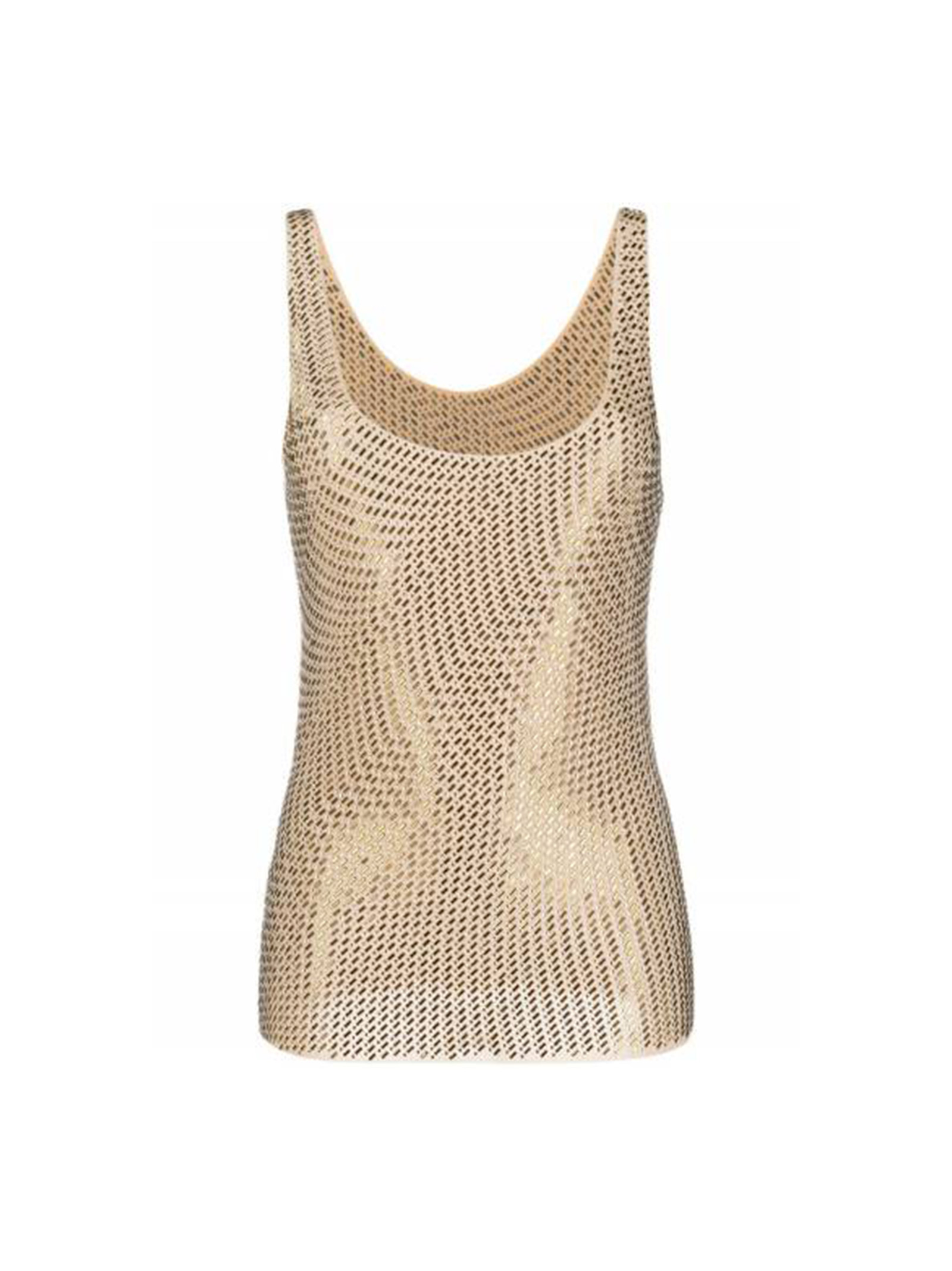 TOP WITH APPLIED RHINESTONES PINKO | Top | 1G15PC-Y673D27