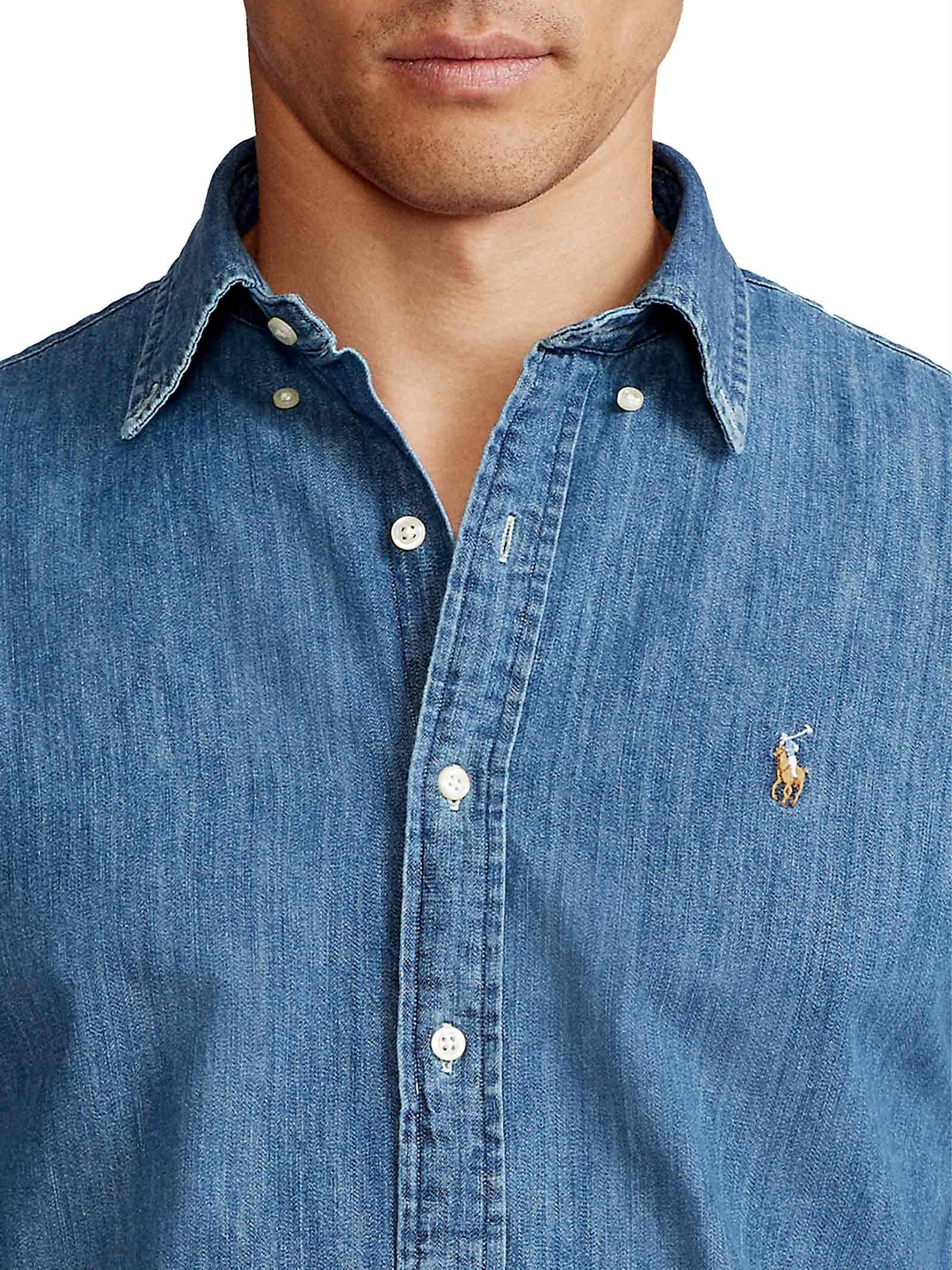 Camicia slim fit chambray RALPH LAUREN | Camicia | 710-548539001