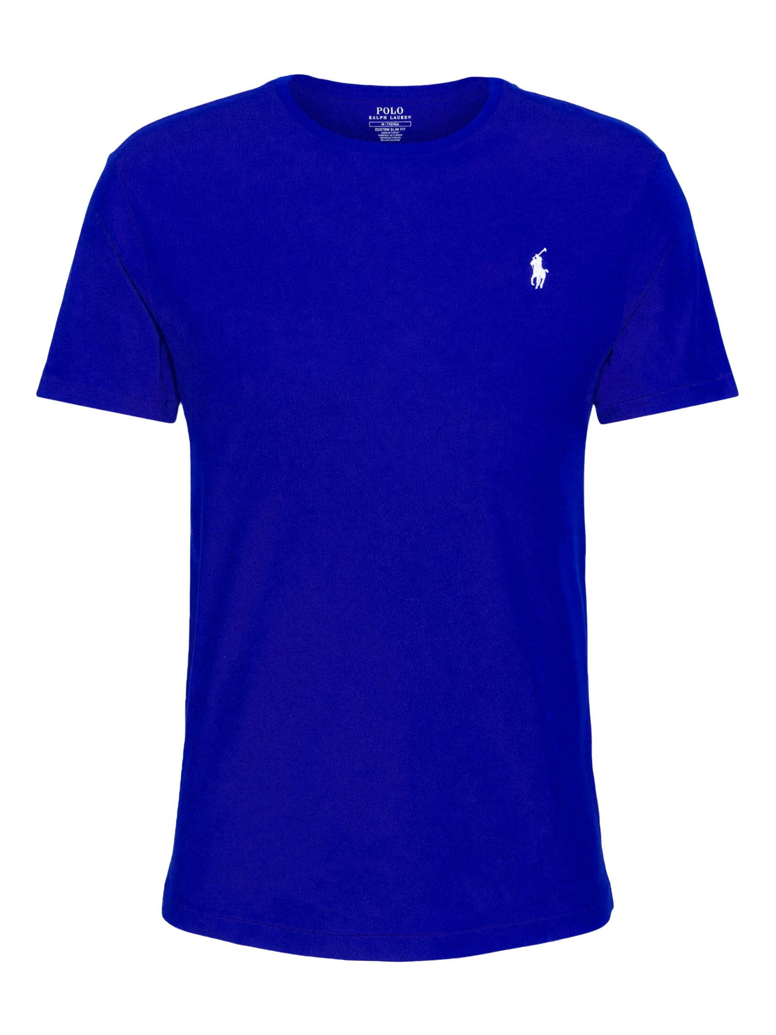 T-shirt blu girocollo slimfit RALPH LAUREN | T-shirt | 710-671438210