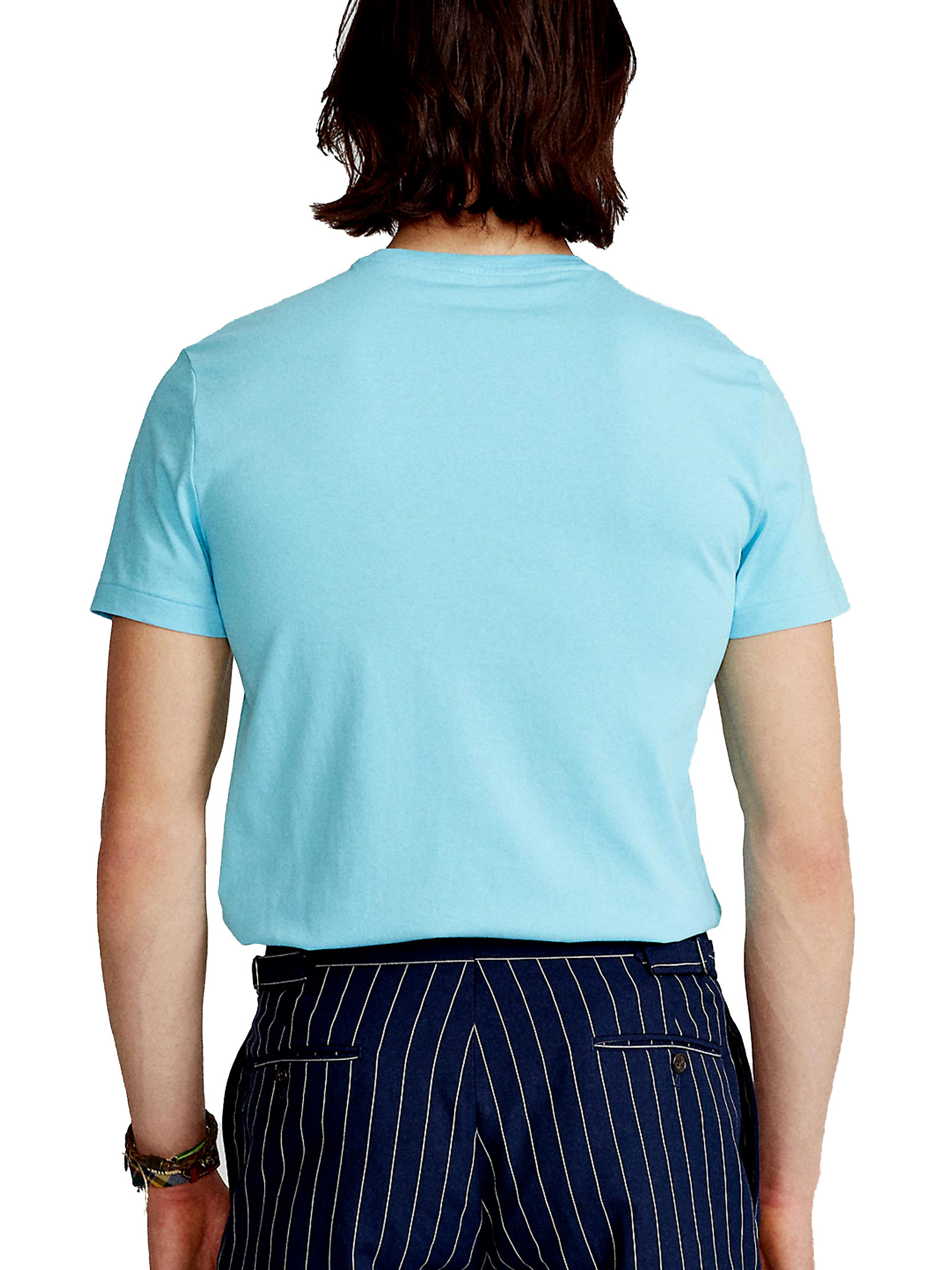 T-shirt azzurro girocollo slimfit RALPH LAUREN | T-shirt | 710-671438216