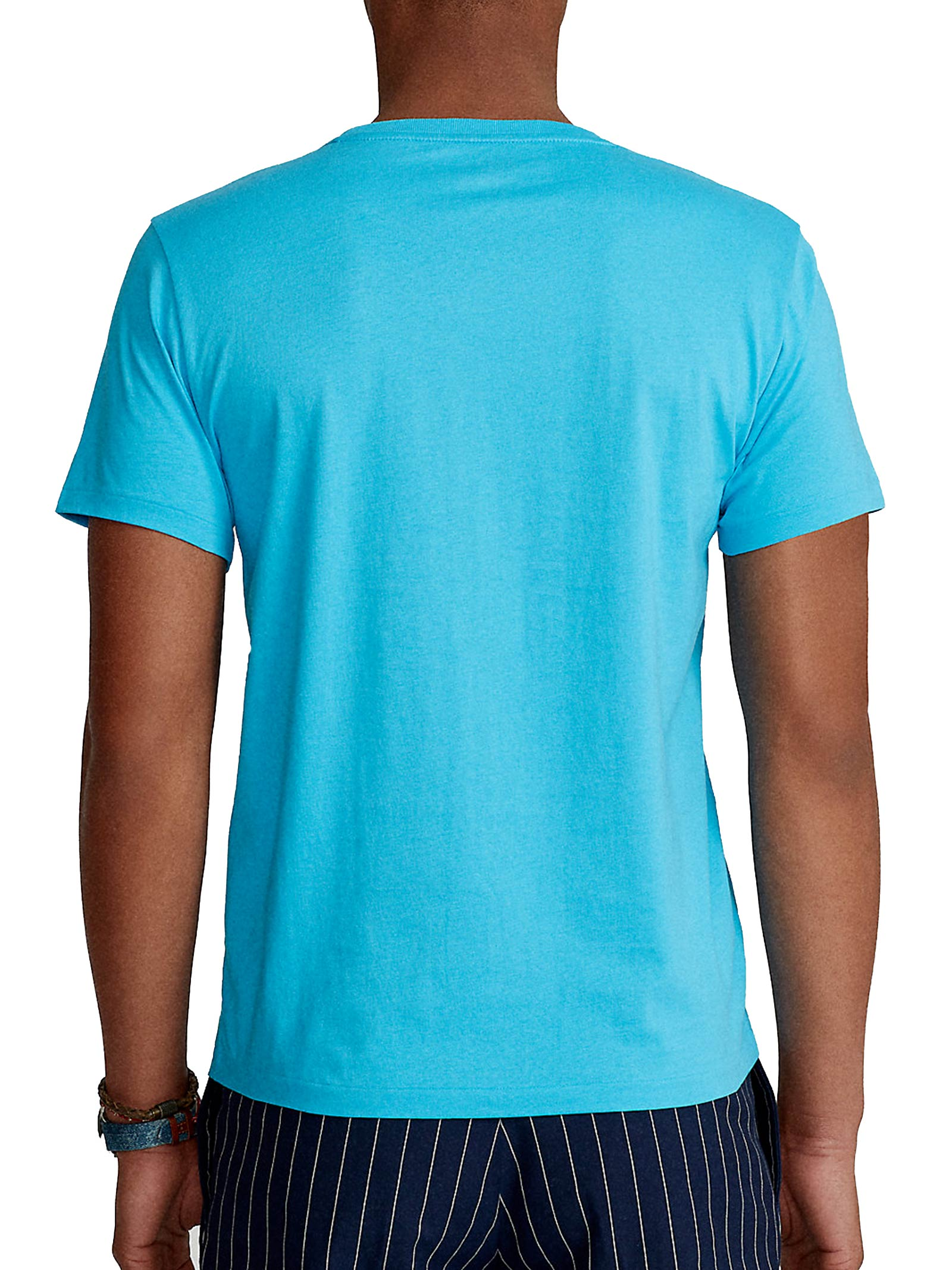T-shirt celeste girocollo slimfit RALPH LAUREN | T-shirt | 710-671438217
