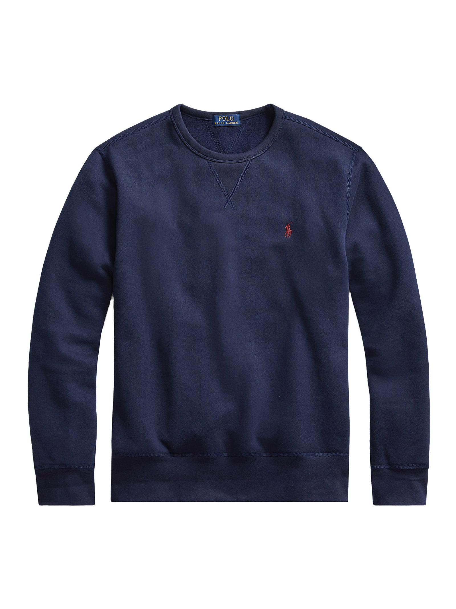 Pullover girocollo blu con logo RALPH LAUREN   Pullover   710-766772003