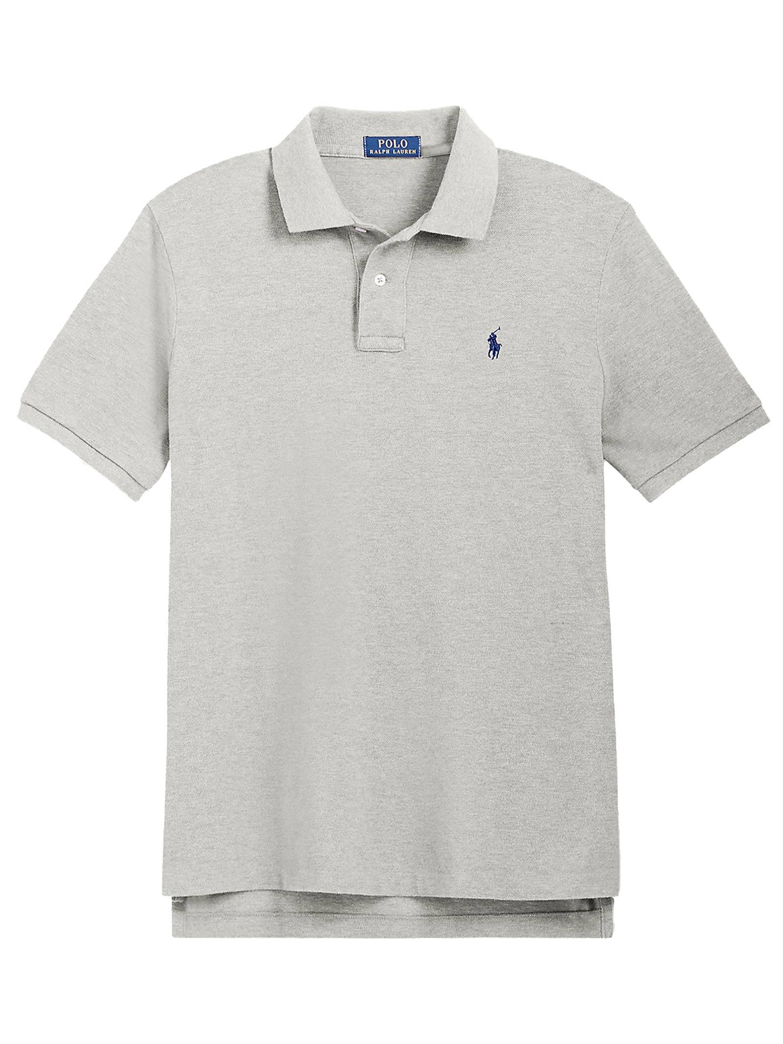 Polo regular in cotone grigia RALPH LAUREN   Polo   710-795080005
