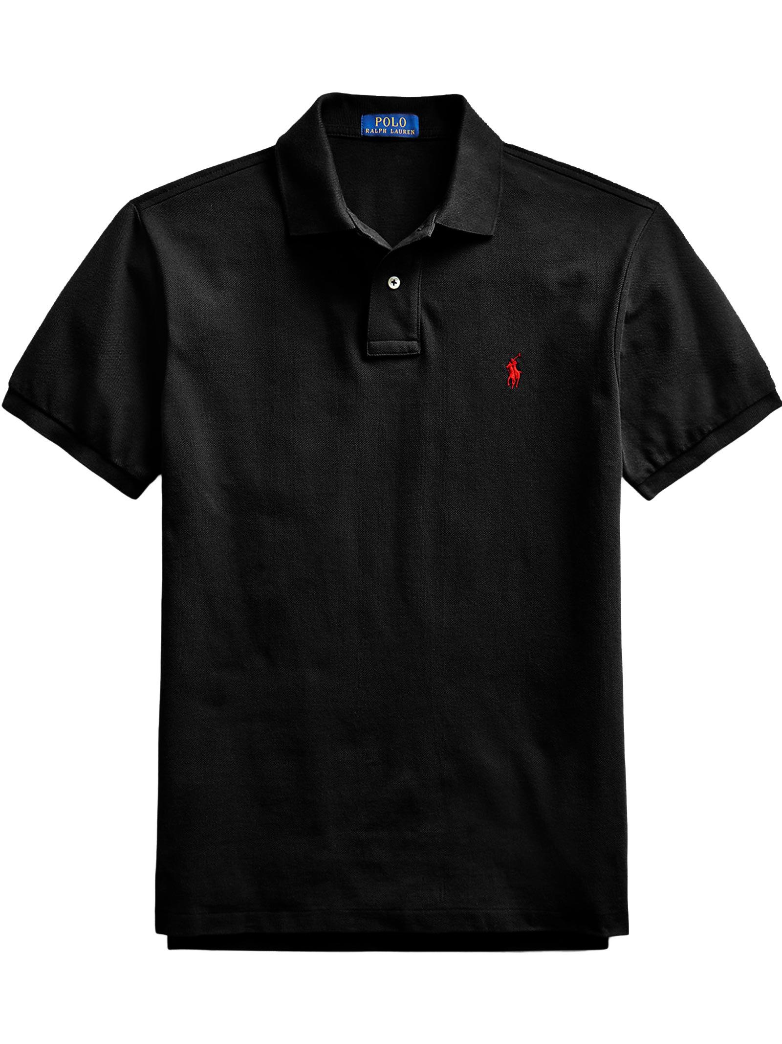 Polo regular in cotone nero RALPH LAUREN   Polo   710-795080006