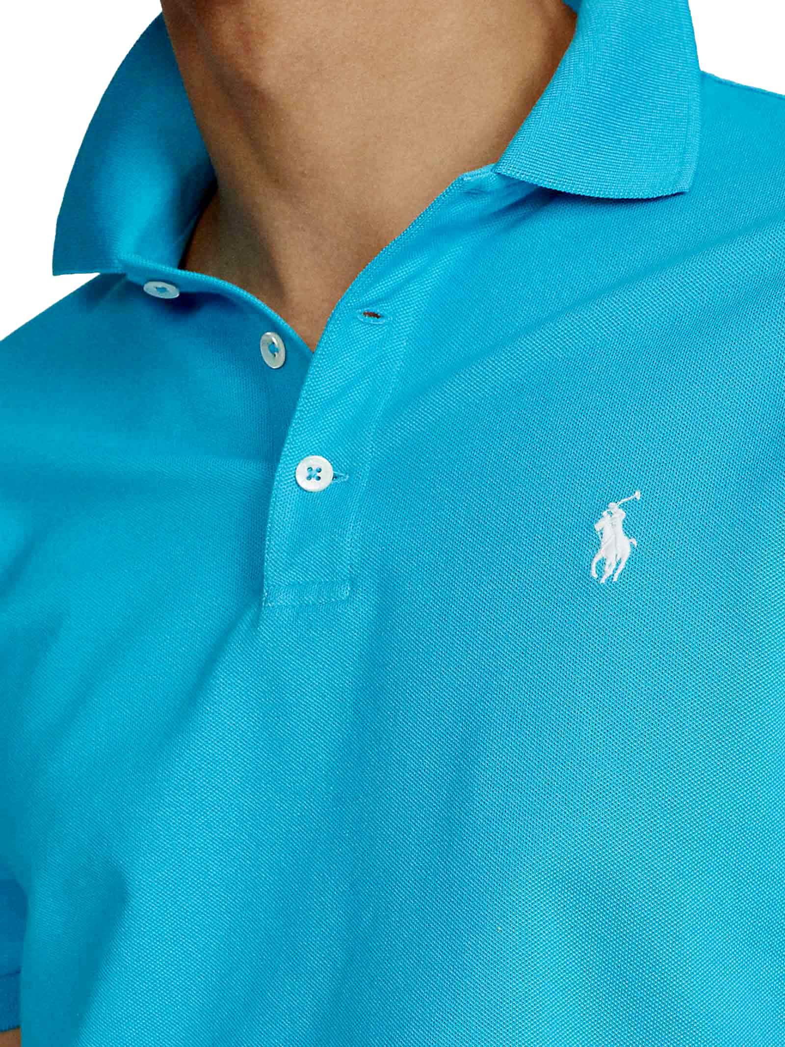 Polo regular in cotone azzurro RALPH LAUREN | Polo | 710-795080023