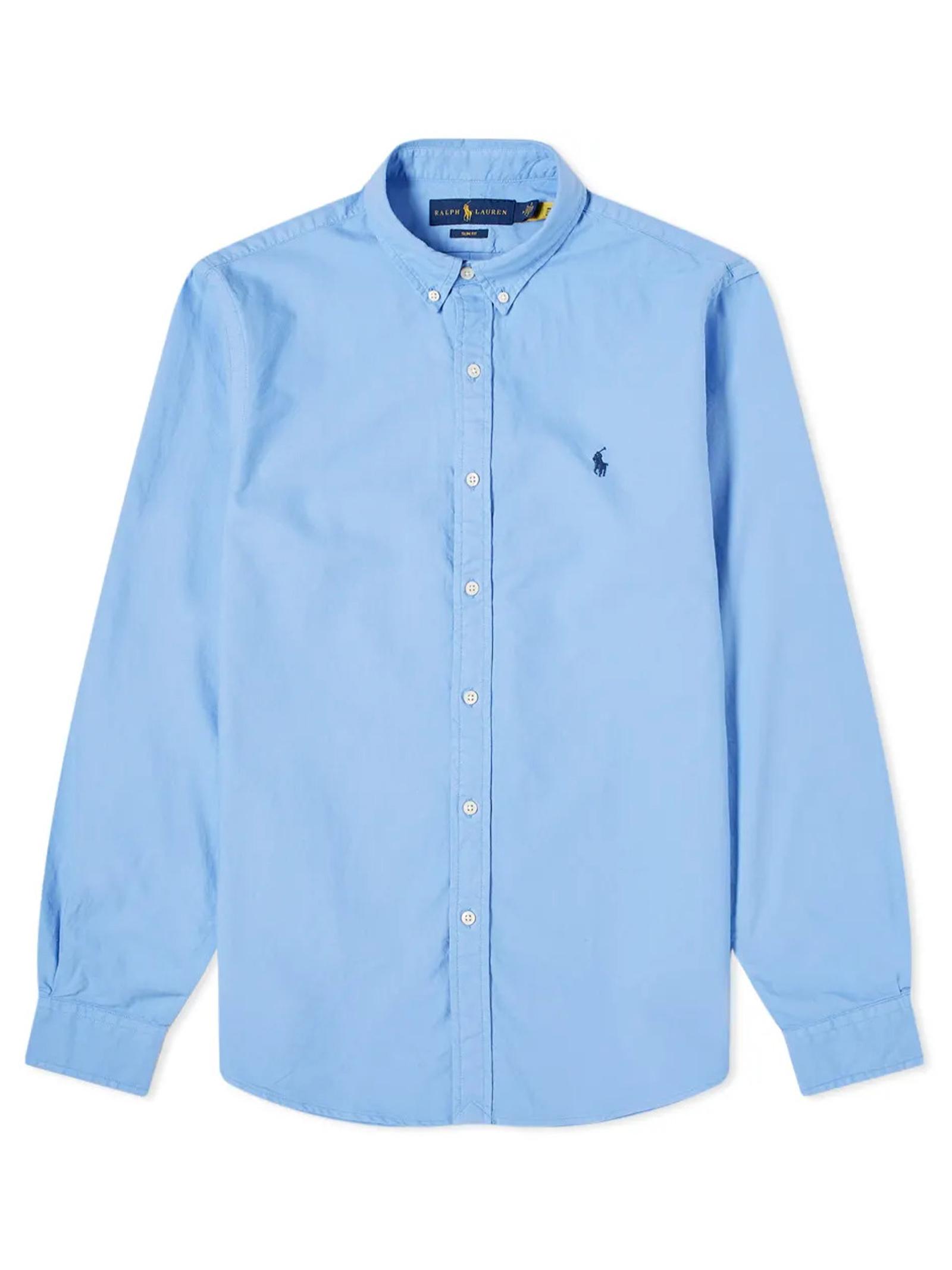 Camicia celeste con logo RALPH LAUREN   Camicia   710-804257015