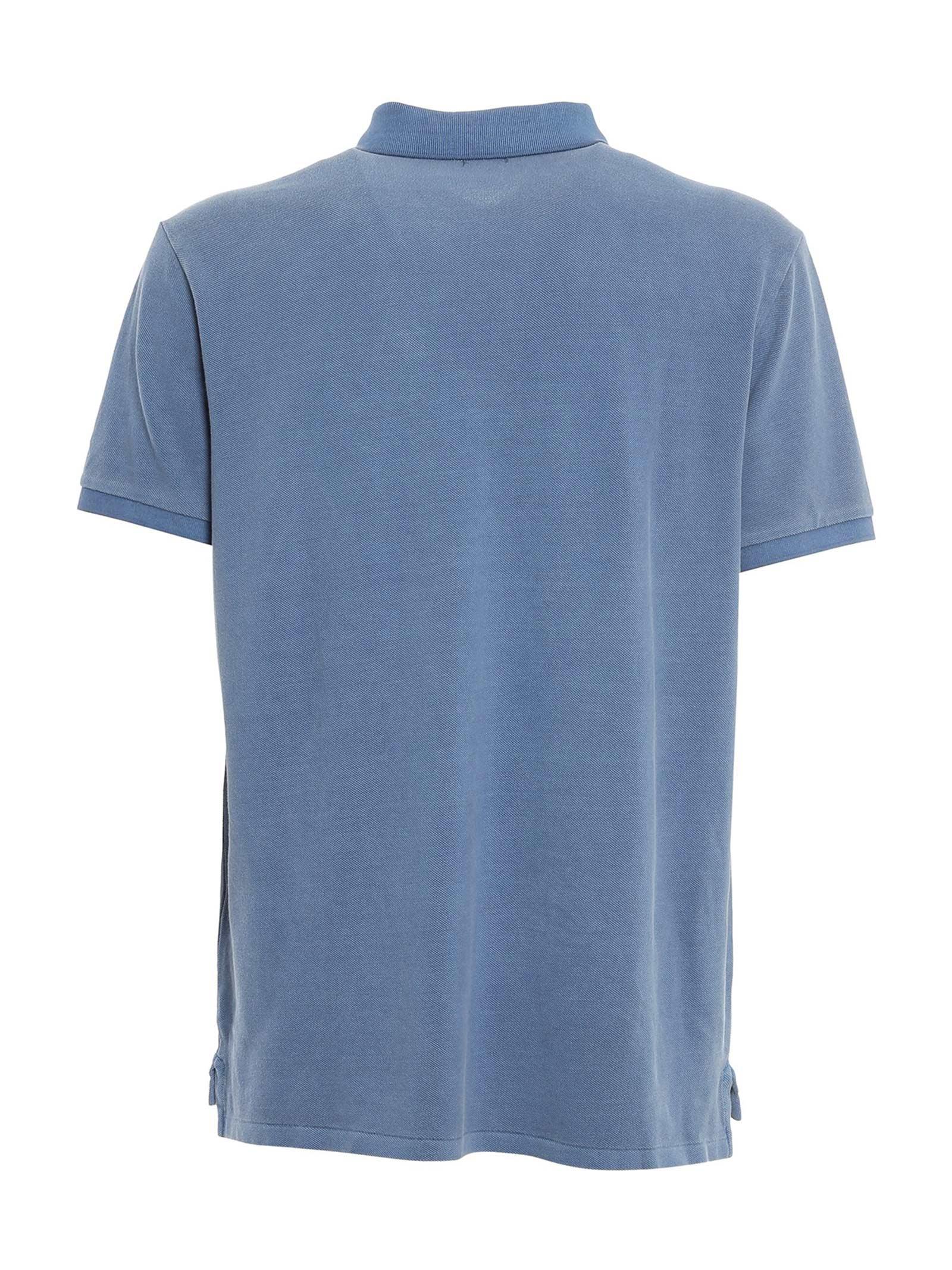 Polo piquè slim fit blu chiaro RALPH LAUREN   Polo   710-814416015