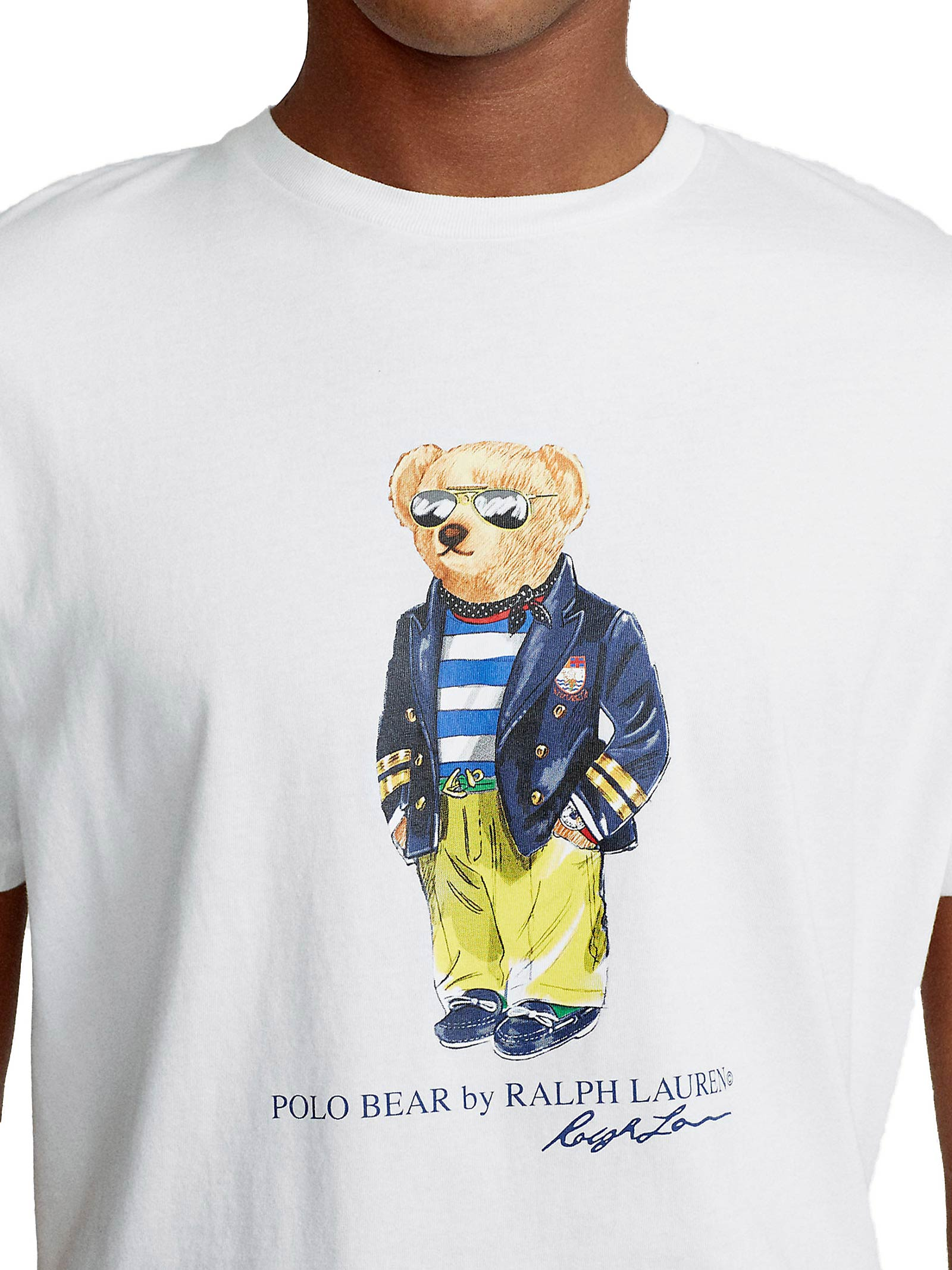 T-shirt bianca con stampa RALPH LAUREN   T-shirt   710-837306002