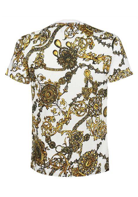 t-shirt maiche corte con stampa VERSACE JEANS | T-shirt | 71GAH6S0 JS015G03