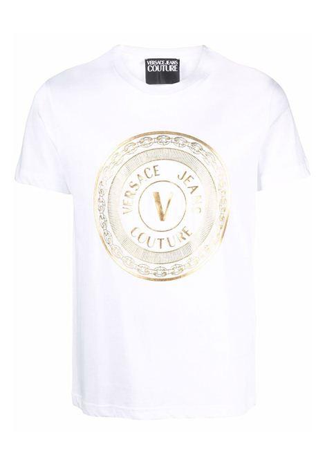 t-shirt maiche corte e stampa VERSACE JEANS | T-shirt | 71GAHT12 CJ00TG03
