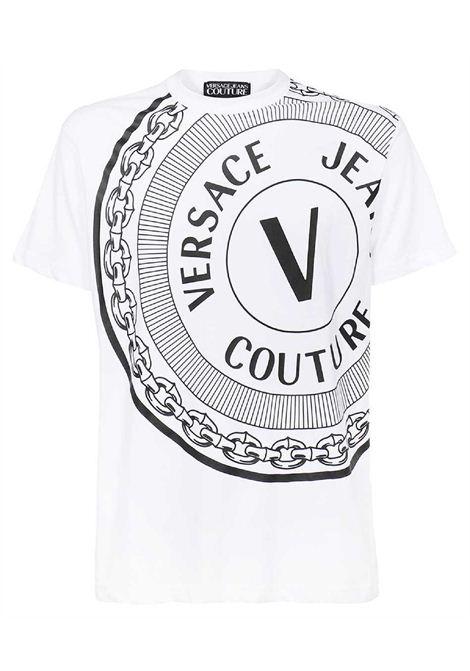 t-shirt maniche corte e stampa VERSACE JEANS | T-shirt | 71GAHT19 CJ00T003