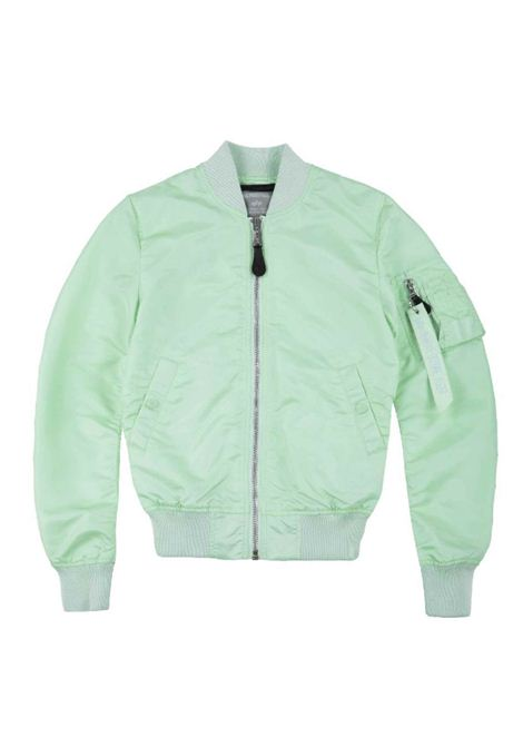 Bomber turchese chiusura zip ALPHA INDUSTRIES | Giacca | 156001A43
