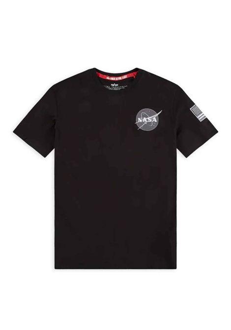 Black t-shirt with Nasa logo ALPHA INDUSTRIES | T-shirt | 17650703