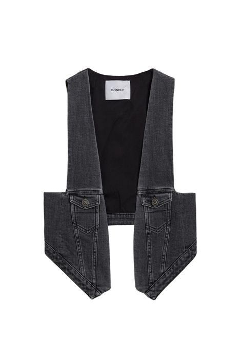 Gilet grigio in tessuto jeans DONDUP | Gilet | DJ404 DS0272DBL8