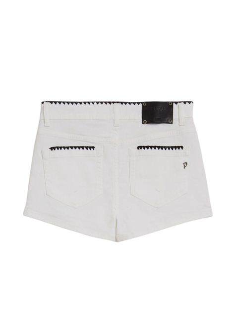 Short in denim bianco DONDUP | Shorts | DP277B BS0030DPTDW