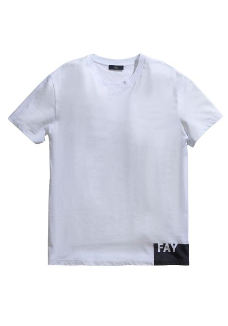 T-Shirt bianca FAY | T-shirt | NPMB3421310SHOB001