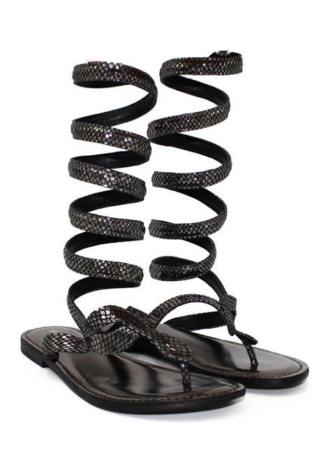 Sandalo nero FUSION | Sandalo | CBF.R220030METAL