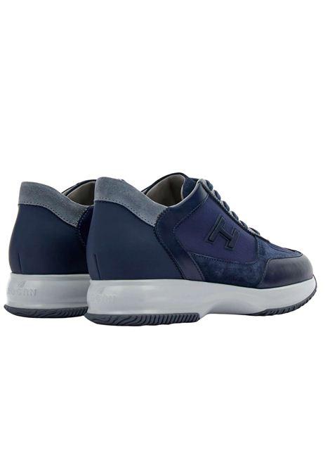 Sneakers  in pelle e camoscio con H flock HOGAN | Scarpe | HXM00N0Q101PDI647M
