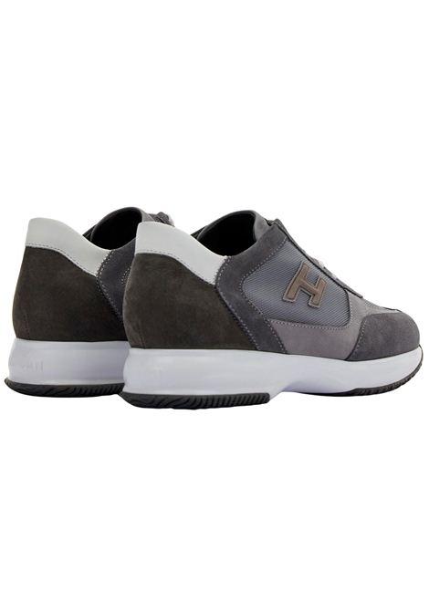 Sneakers in pelle e camoscio con H flock HOGAN | Scarpe | HXM00N0Q101PDU647L