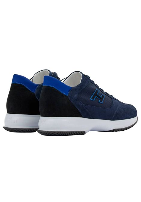 Sneakers in pelle e camoscio con H flock HOGAN | Scarpe | HXM00N0Q101PDU647N