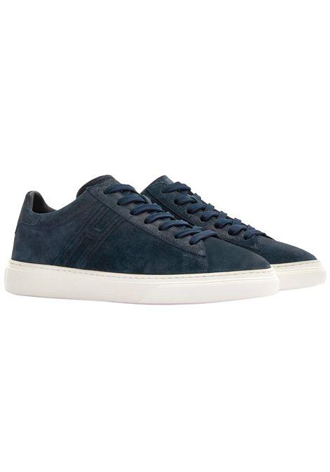 Sneakers Hogan in pelle scamosciata blu HOGAN | Scarpe | HXM3650J960BTMU828