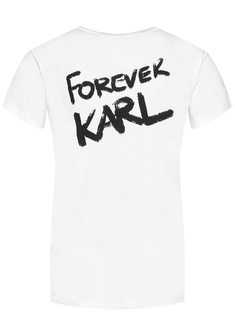 Forever Karl White T-Shirt KARL LAGERFELD | T-shirt | 205W1702.21100