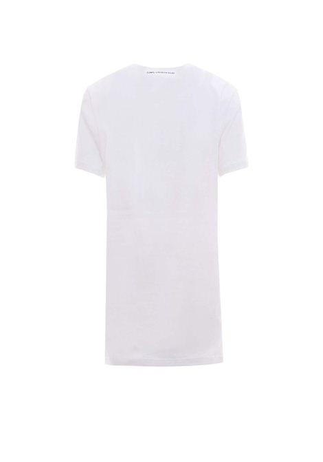 White t-shirt with print KARL LAGERFELD | T-shirt | 210W1723.21100