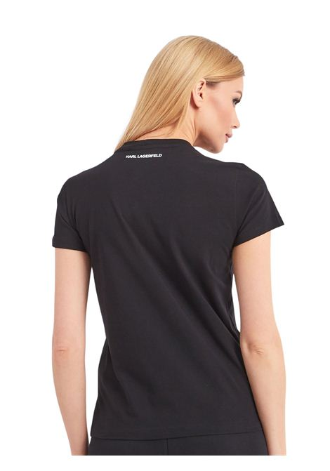 T-shirt con strass applicati KARL LAGERFELD | T-shirt | 210W1726.21999