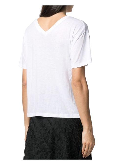 White T-shirt with V-neck KARL LAGERFELD | T-shirt | 211W1701100