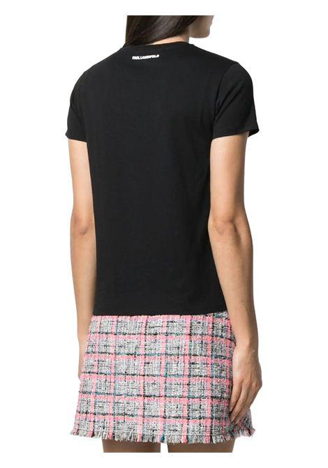 T-SHIRT CON PROFILO KARL BOUCLÉ KARL LAGERFELD | T-shirt | 211W1702999