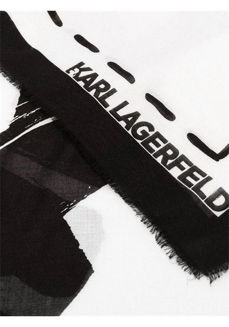 Sciarpa K / Iconic graffiti KARL LAGERFELD | Sciarpa | 211W3305998/A998
