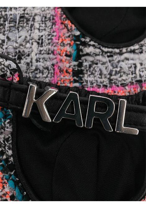 GUANTI IN TWEED CON LETTERE KARL LAGERFELD | Guanti | 211W3604568/A568