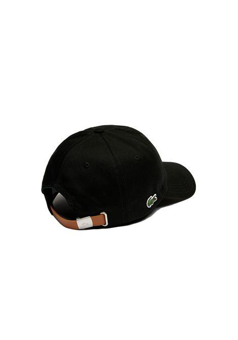 Cappelllo in cotone nero LACOSTE   Cappello   RK4709031