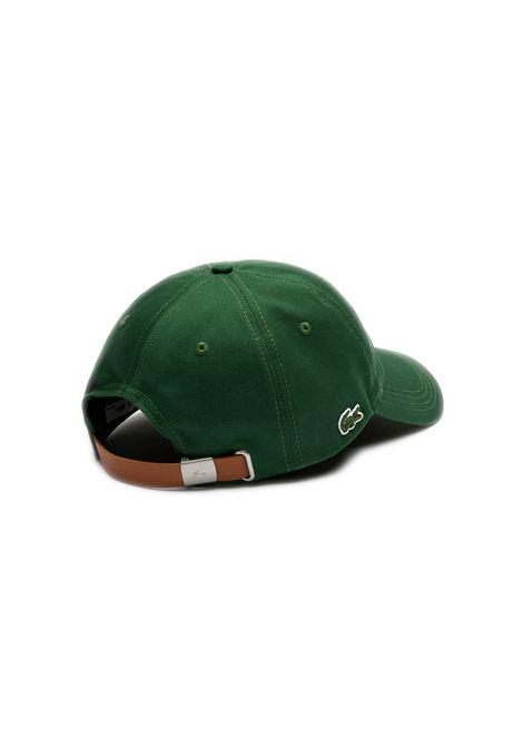 Cappelllo in cotone verde LACOSTE | Cappello | RK4709132