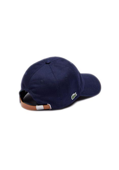 Cappelllo in cotone blu navy LACOSTE   Cappello   RK4709166